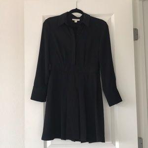 SOLD Topshop Black Pleated Chiffon Dress